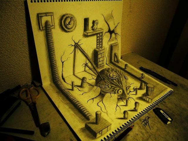 disegni-illusione-3d-nagai-hideyuki-06-terapixel
