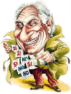 Marco Pannella (caricatura di Franco Bruna)